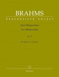 Brahms, Johannes: Two Rhapsodies for Piano op. 79