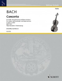 Bach, J S: Concerto in A Minor BWV 1041