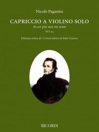 """Paganini: Capriccio a violino solo """"In cor più non mi sento"""""""