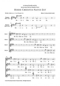 Alexander James: Hodie Christus Natus Est