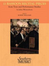 Julius Weissenborn: 11 Bassoon Recital Pieces