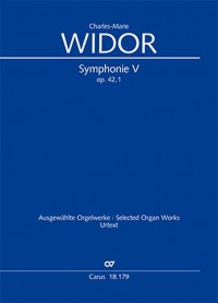 Widor: Symphonie No. V pour Orgue, Op. 42 No. 1