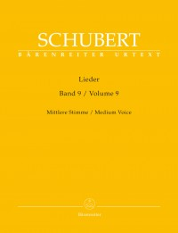 Schubert, Franz: Lieder Volume 9 (Medium Voice)