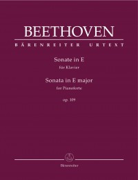 Beethoven, Ludwig van: Sonata for Pianoforte in E major op. 109