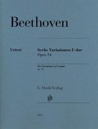 Beethoven: Six Variations in F major, op. 34