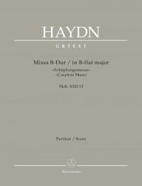 "Haydn: Mass in B flat, Hob. XXII:13 ""Creation Mass"" (Full Score)"
