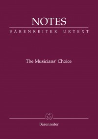 "Bärenreiter Notes ""The Musician's Choice"""