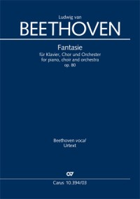 Beethoven: Choral Fantasy, Op. 80 (Vocal Score)