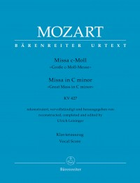 "Mozart: ""Great Mass in C minor"", K427 (Vocal Score)"
