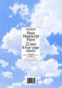 Woodstock: Music Manuscript Paper 12 Stave - 24 pages (A4)