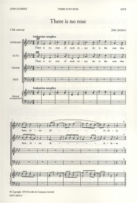John Joubert: There Is No Rose Of Such Virtue (SATB)