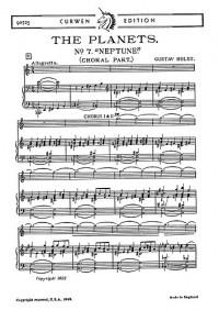 Gustav Holst: Neptune from The Planets Chorus Part