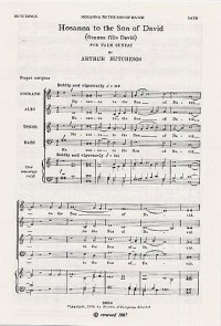 Arthur Hutchings: Hosanna To The Son Of David