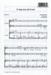 Richard Hinde: O Sing Unto The Lord