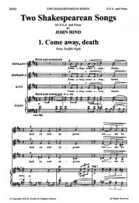 John Hind: Two Shakespearean Songs