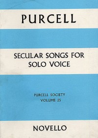 Purcell Society Volume 25 - Secular Songs For Solo Voice