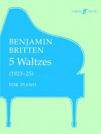 Benjamin Britten: Five Waltzes (Piano)