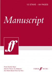 Faber Music Manuscript Paper: 12-Stave - 64 Pages - A4 - White (Spiral Bound)