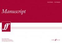 Manuscript A3 18-stave 75pp (white pad)