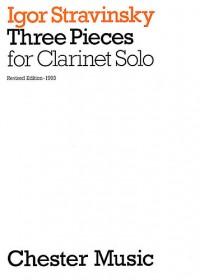 Igor Stravinsky: Three Pieces For Clarinet Solo