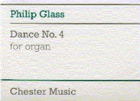 Philip Glass: Dance No. 4 For Organ