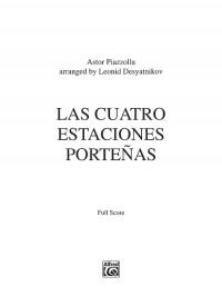 Astor Piazzolla: Las Cuatro Estaciones Porteñas