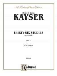 Heinrich Ernst Kayser: Thirty-six Studies, Op. 43