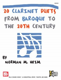 Dr. Norman Heim: 20 Clarinet Duets From Baroque To The 20Th Century