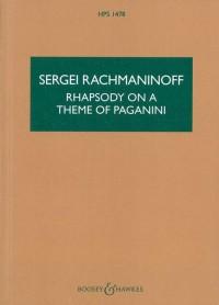 Rachmaninoff, S W: Rhapsody on a Theme of Paganini op. 43