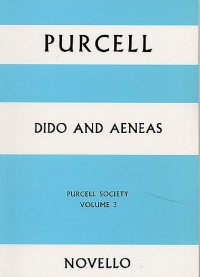 Purcell Society Volume 3 - Dido And Aeneas (Full Score)