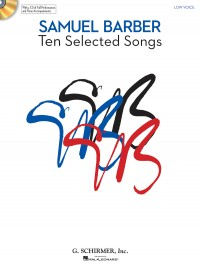 Samuel Barber: Ten Selected Songs - Low Voice (Book and CD)