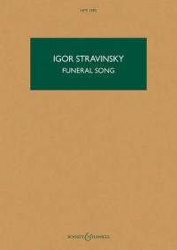 Stravinsky: Funeral Song, Op. 5 (Study Score)