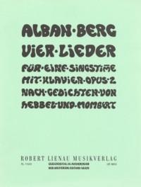 Berg, A: Vier Lieder Op.2