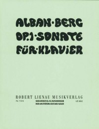 Alban Berg: Sonata Op 1 (Piano Solo)