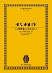 Hindemith, P: Kammermusik No. 6 op. 46/1