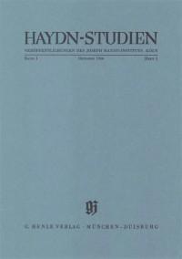 Haydn-Studien Bd. 1 Heft 3