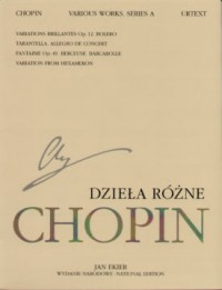 Chopin F: Various Works (vol A12)