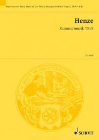 Henze, H W: Kammermusik 1958