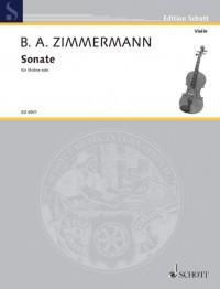 Zimmermann, B A: Sonata