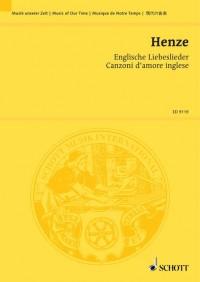 Henze, H W: Englische Liebeslieder