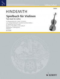 Hindemith, P: Tune book for violins