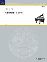 Henze, H W: Album for piano