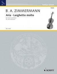 Zimmermann, B A: Aria · Larghetto molto