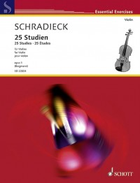 Schradieck: 25 Studies op. 1 for Violin