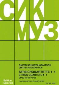Shostakovich: String Quartets 1 - 4