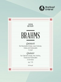 Brahms, J: Clarinet Quintet in B minor Op. 115