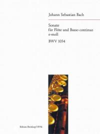 Bach, JS: Sonate e-moll BWV 1034