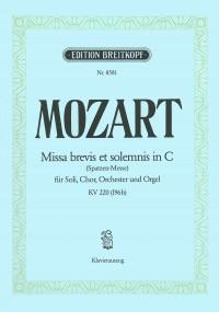 Mozart, W A: Missa brevis in C major K. 220 (196b) KV 220 (196b)