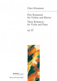 Schumann, C: 3 Romances Op. 22 op. 22