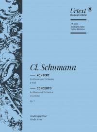 Schumann, C: Piano Concerto in A minor Op. 7